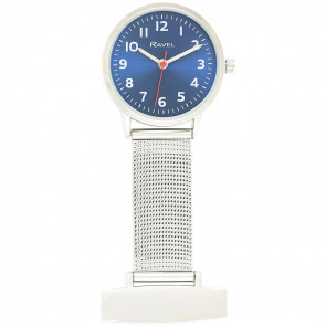 Nurses's Easy Read Mesh Watch - Blue