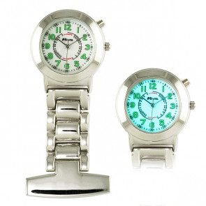 Nurses Watch with EL Backlight - Silver Tone