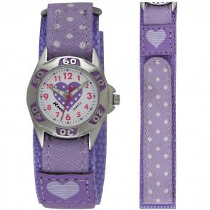 Kid's Easy Fasten Polka Dot Watch - Purple