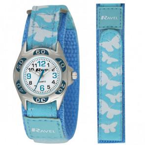 Kid's Easy Fasten Butterfly Watch - Turquoise