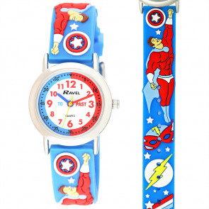 Kid's Time-Teacher Watch - Superheroes