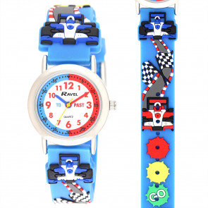Kid's Time-Teacher Watch - Rally Racing Car