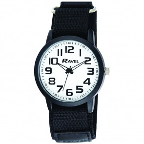 Easy Fasten Sports Watch - Black / White