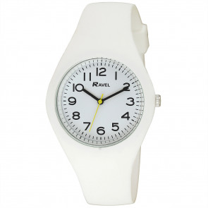 Large Comfort Fit Silicone Watch - White