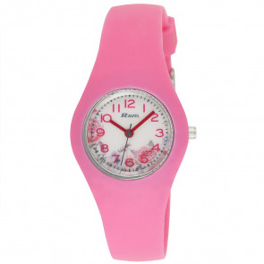 Silicone Floral Watch - Pink