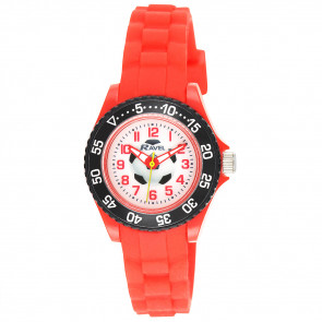 Kid's Silicone Football Watch - Red