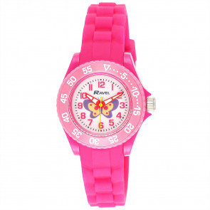 Kid's Silicone Butterfly Watch - Pink