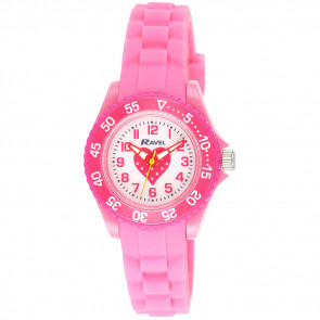 Kid's Silicone Heart Watch - Pink