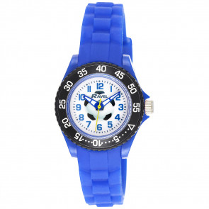 Kid's Silicone Football Watch - Blue