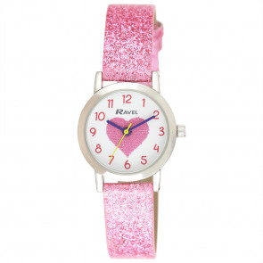 Girl's Sparkle Glitter Watch - Hearts