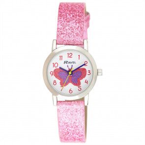 Girl's Sparkle Glitter Watch - Butterfly