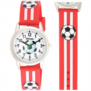 Silicone Football Watch - Red