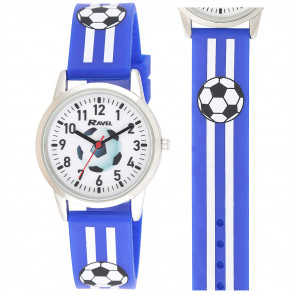 Silicone Football Watch - Blue