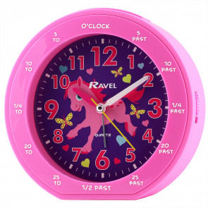 Children's time teacher clock - Pink Pony