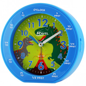 Children's Time Teacher Clock - Blue Dinosaur