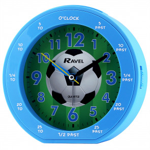 Children's time teacher clock - Blue Football