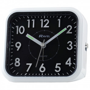 3D Numbers Alarm Clock - White / Black Dial