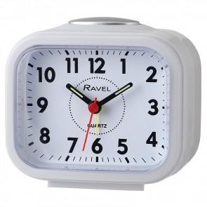 Rectangular Beep & Bell Alarm - White/Silver