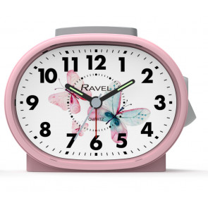 Picture Dial Alarm Clock - Pink Butterfly