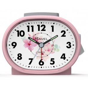 Picture Dial Alarm Clock - Pink Floral