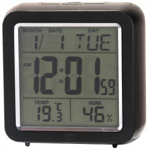 Multifunction Digital Cube Clock - Black