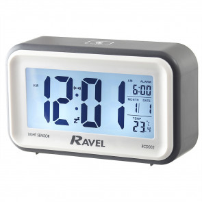 Digital Multifunction Jumbo Display Clock - Grey