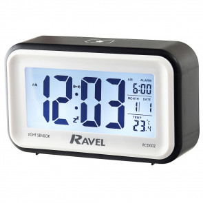 Digital Multifunction Jumbo Display Clock - Black