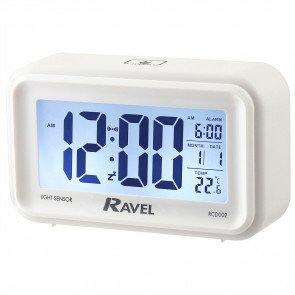 Digital Multifunction Jumbo Display Clock - White