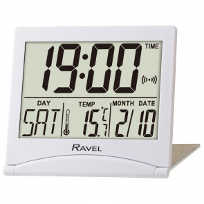 Digital Travel Flip Alarm Clock - White