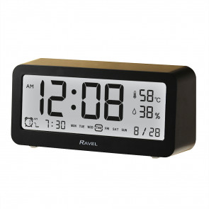 Contemporary Digital Light Sensor Alarm Clock - Black