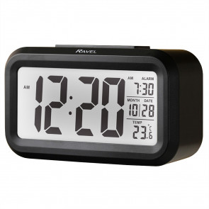 Big Digit Light Sensor Alarm Clock - Black