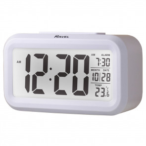 Big Digit Light Sensor Alarm Clock - White