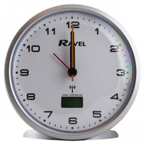 Radio Controlled Quartz Alarm Clock - Silver