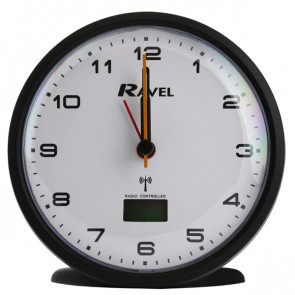 Radio Controlled Quartz Alarm Clock - Black