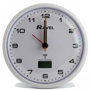 Radio Controlled Quartz Alarm Clock - White