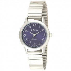 Women's Classic Expander Watch - Silver Tone / Blue