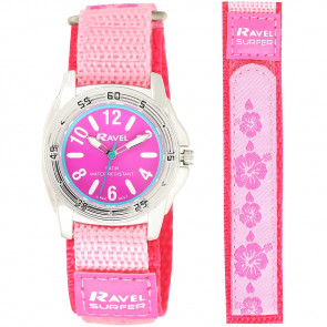 Girl's Easy Fasten 5ATM Watch - Pink