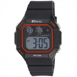 Square Digital Watch - Red