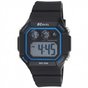 Square Digital Watch - Blue