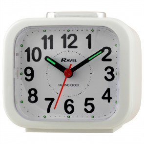 Talking Clock - White